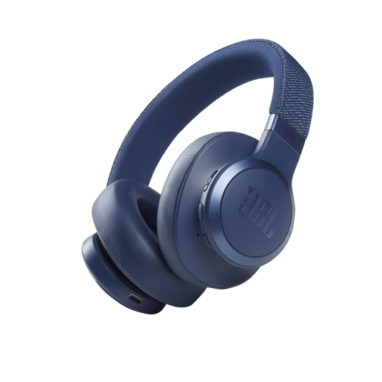 JBL Live 660NC - Blue - WIRELESS OVER-EAR NC HEADPHONES - Hero