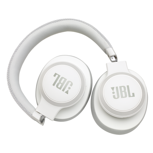 JBL LIVE 650BTNC - White - Wireless Over-Ear Noise-Cancelling Headphones - Detailshot 5
