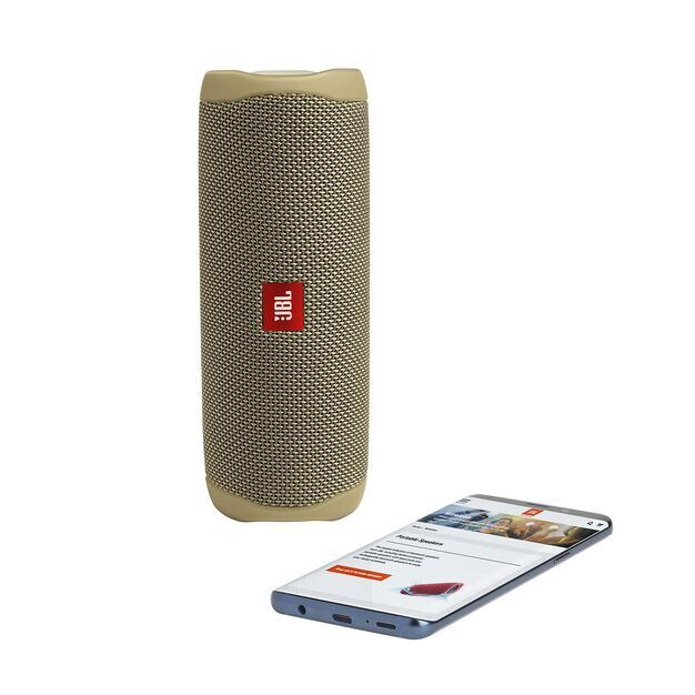 JBL FLIP 5 - Sand - Portable Waterproof Speaker - Detailshot 2