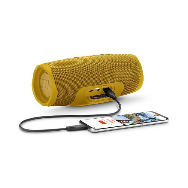 JBL Charge 4 - Mustard Yellow - Portable Bluetooth speaker - Detailshot 4