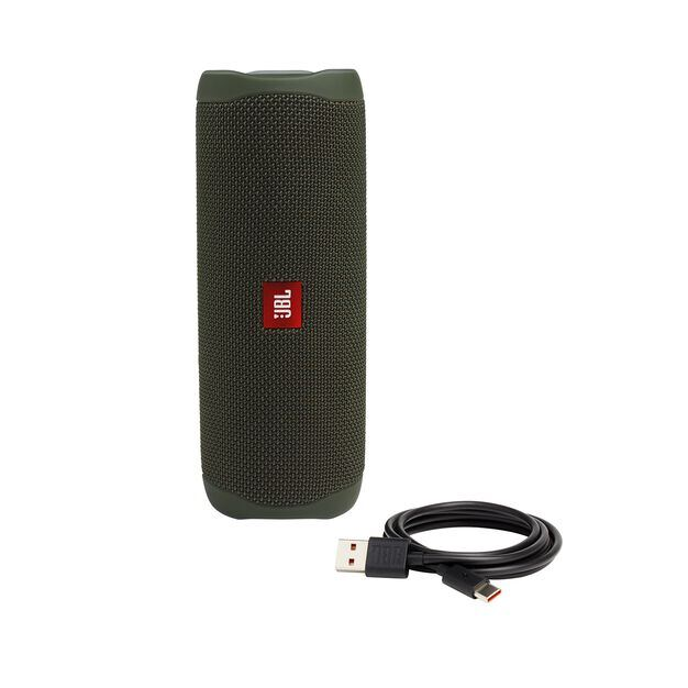 JBL FLIP 5 - Green - Portable Waterproof Speaker - Detailshot 1