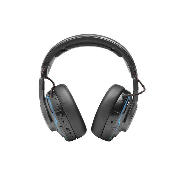 JBL Quantum ONE - Black - USB wired PC over-ear professional gaming headset with head-tracking enhanced JBL QuantumSPHERE 360 - Back