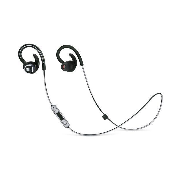 JBL Reflect Contour 2 - Black - Secure fit Wireless Sport Headphones - Hero