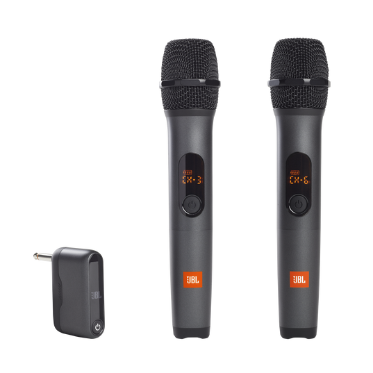 JBL Wireless Microphone Set - Black - Wireless two microphone system - Hero