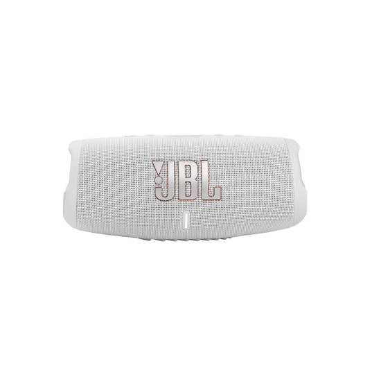 JBL CHARGE 5 - White - Portable Waterproof Speaker with Powerbank - Front