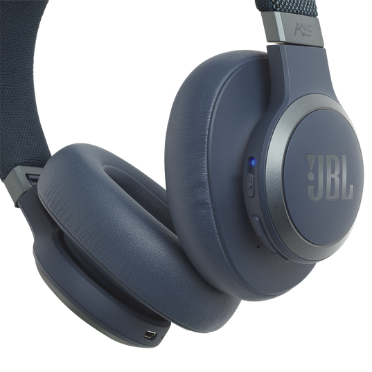 JBL LIVE 650BTNC - Blue - Wireless Over-Ear Noise-Cancelling Headphones - Detailshot 4