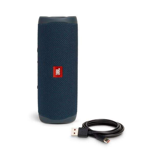 JBL FLIP 5 - Blue - Portable Waterproof Speaker - Detailshot 1