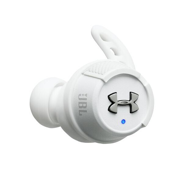 Under Armour® True Wireless Flash – Engineered by JBL® - White - Truely wireless sport headphones for your every run, with JBL technology and sound. - Detailshot 4
