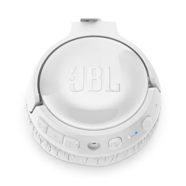 JBL TUNE 600BTNC - White - Wireless, on-ear, active noise-cancelling headphones. - Detailshot 3