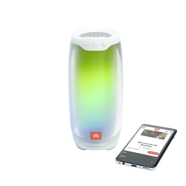 JBL Pulse 4 - White - Portable Bluetooth Speaker - Detailshot 3