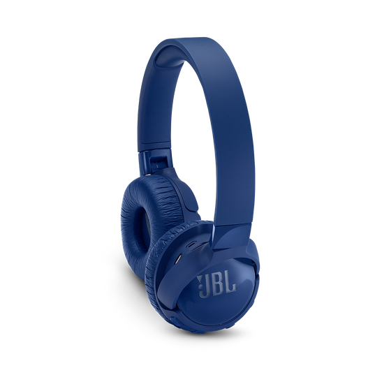 JBL TUNE 600BTNC - Blue - Wireless, on-ear, active noise-cancelling headphones. - Detailshot 1