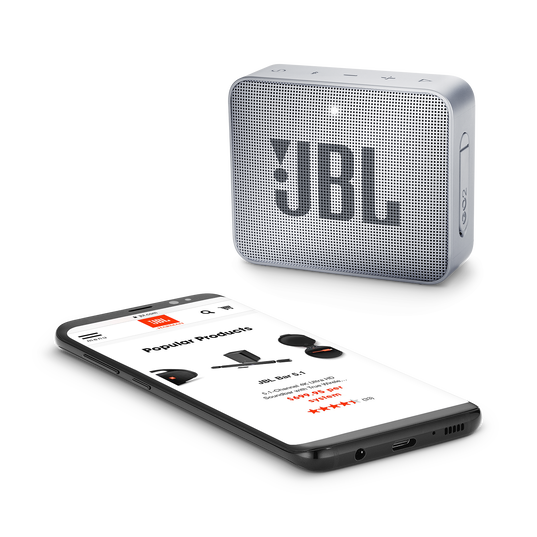 JBL GO 2 - Ash Gray - Portable Bluetooth speaker - Detailshot 3